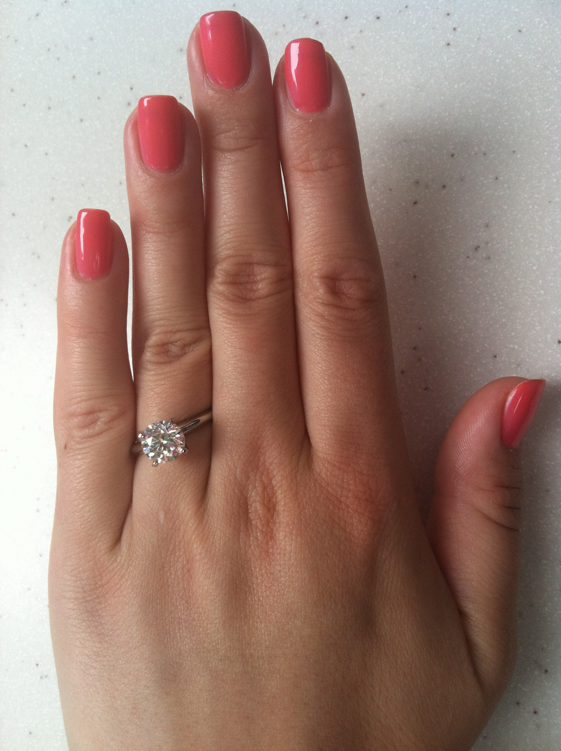 engagement nails | Born to be a Bride