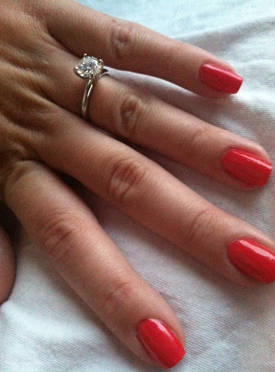 Engagement Ring Nails | Born to Be a Bride