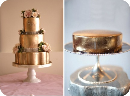Totally Glam A Gold Wedding Cake