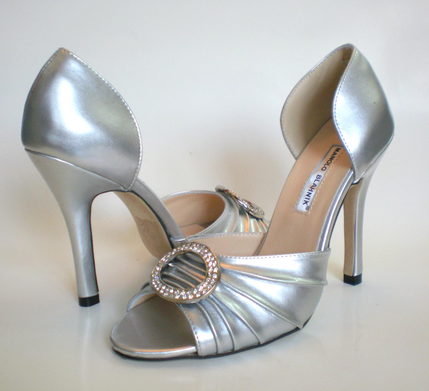 silver manolo blahnik shoes sex and the city