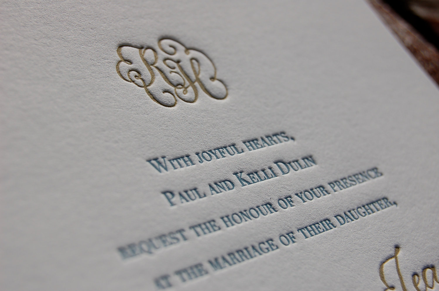 Lovely Letterpress Invites Handmade By Elecia At Dancing Pen And Press.