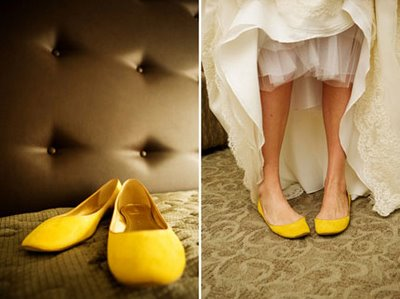 Yellow Wedding Shoes | Born to Be a Bride