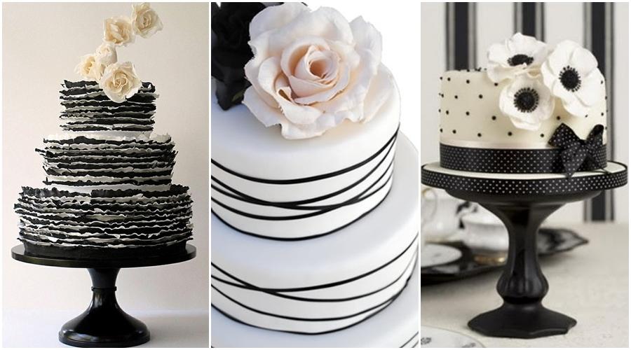 Black and White Wedding Cakes 01