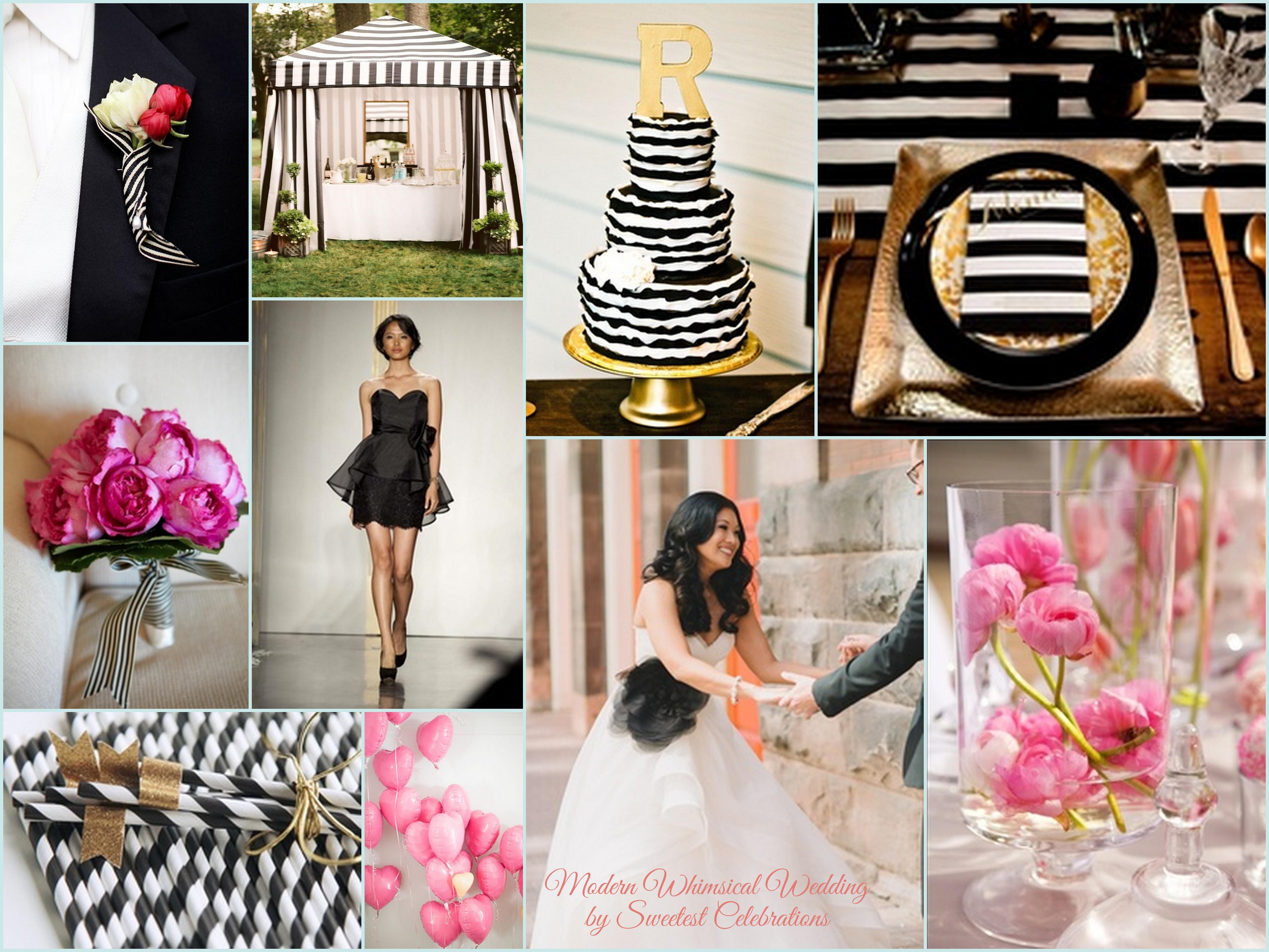 modern-whimsical-wedding-black-white-gold